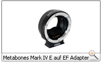 Metabones Mark IV E auf EF Adapter